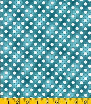 Creating New Traditions- Made in America Dots Dots Turquoise