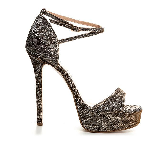 1008G01_BRONZE LEOPARD www.mourtzi.com #mourtzi #leopard #glitter #heels #platforms #wow #instyle #sandals #weddingshoes
