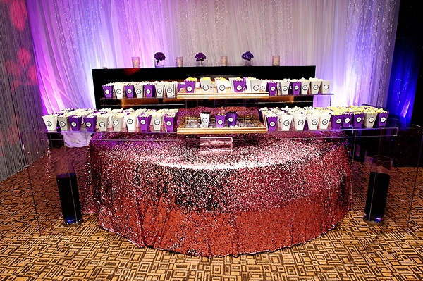 9 different favors of popcorn: over the top wedding popcorn station. Brit Bertino, Event Excellence Www.britbertino.com