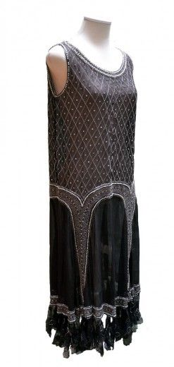 1930s dress from the collection of Loretta Caponi, founder of the eponymous Florentine atelier.