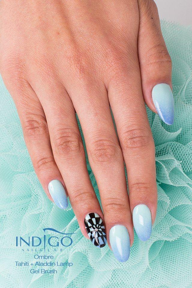 by Paulina Walaszczyk Indigo Educator! Follow us on Pinterest. Find more inspiration at www.indigo-nails.com #nailart #nails #indigo #babyblue #ombre