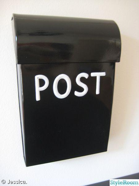 postlåda,brevlåda,svart,bruka design