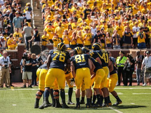 Michigan's opener versus Hawaii .... Salwan Georges Detroit Free Press