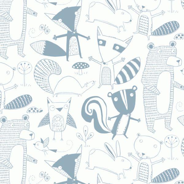 Loboloup Childrens Wallpaper - Friendly Forest by Loboloup | JUST KIDS WALLPAPER™