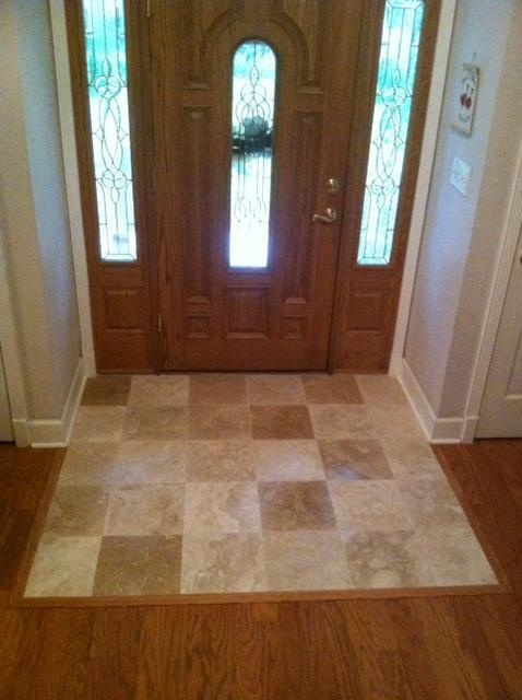 Foyer Tile Utah : Travertine foyer installation in lutz florida our