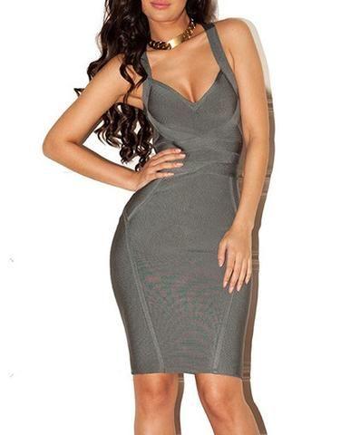 Kylie Grey Bandage Dress