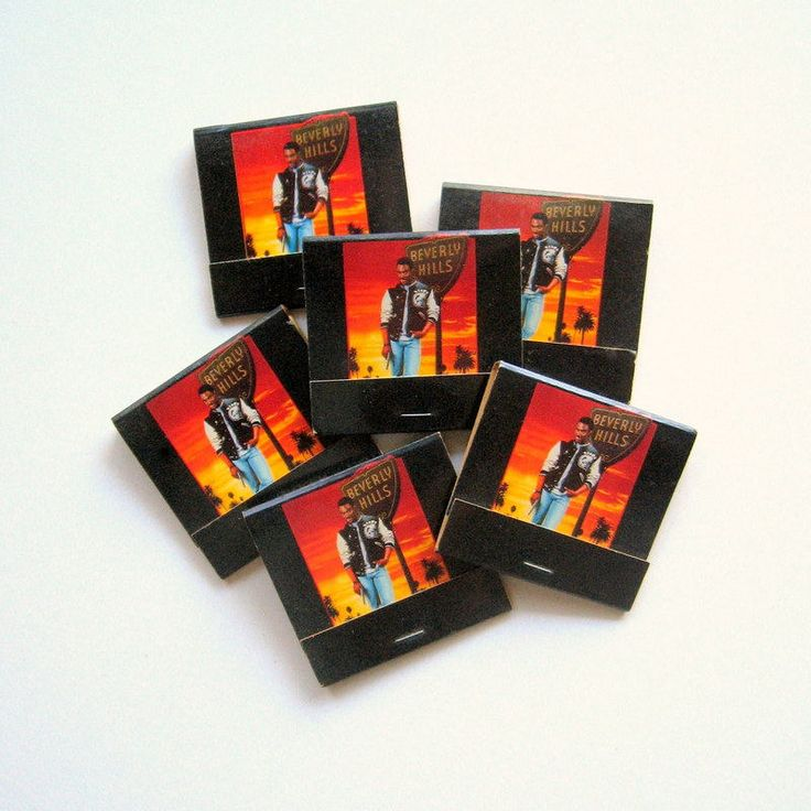 Vintage Beverly Hills Cop II Promotional Match Books - 6 Match Books - 1987 - Collectors item, Eddie Murphy, Paramount, Movie, Video promo by VintageVoyce on Etsy