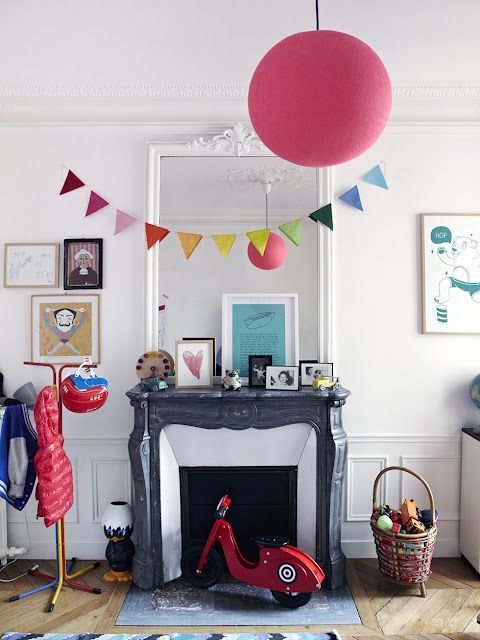 Parisian chic: Decor, For Kids, Boys Bedrooms, Fireplaces, Child Rooms, Design Rooms, Modern House, Kids Bedrooms Ideas, Kids Rooms