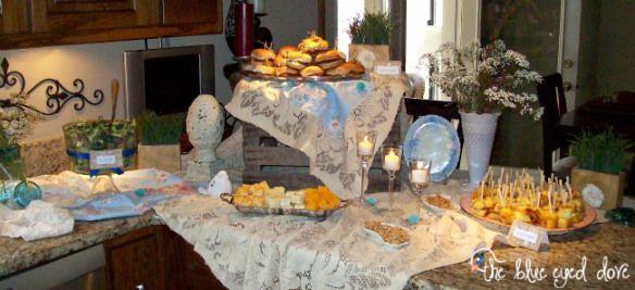 A Shabby Chic Bridal Shower Food Display