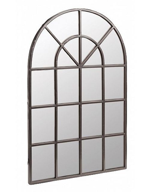 Add some unique contemporary style to your home and garden with this Urban arch mirror, creating the stunning illusion of space and depth. The stylish finish on the metal frame will make this mirror become a striking focal point in whatever area you decide to place it, be it a ga