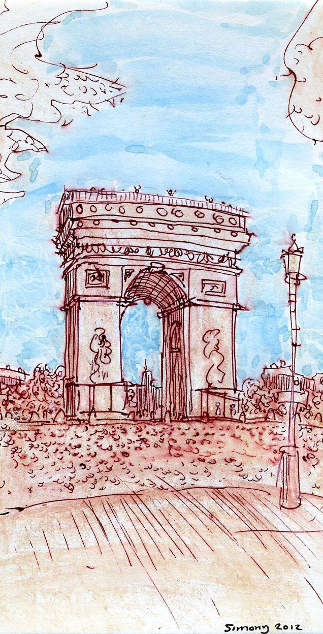 Arc de Triomphe, Paris, Sketch. $25.00, via Etsy.