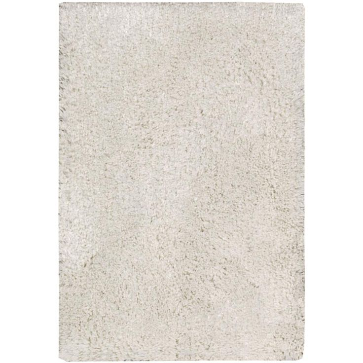 "Nourison Malibu White Shag Area Rug (2'3 x 3'9) (2'3"" x 3'9""), Size 3' x 4' (Polyester, Solid)"
