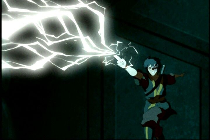 Zuko redirects lightning. =)