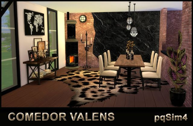 Sims 4 CC's - The Best: Dining Valens by pqSim4
