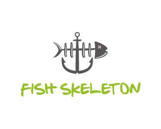 Logo Design - Fish skeleton