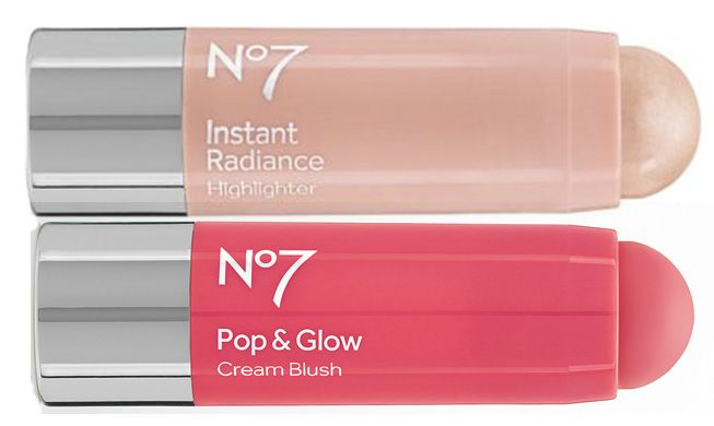 No7 Pop & Glow Cream Blush Stick and Instant Radiance Highlighter for Spring 2014
