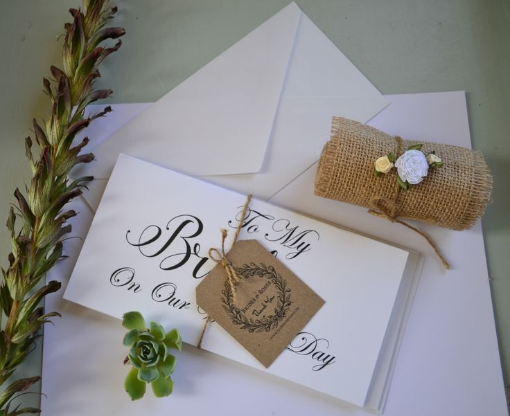 Wedding Day Love Notes Cards TO My Bride And To My Groom Cards.. See them on ./