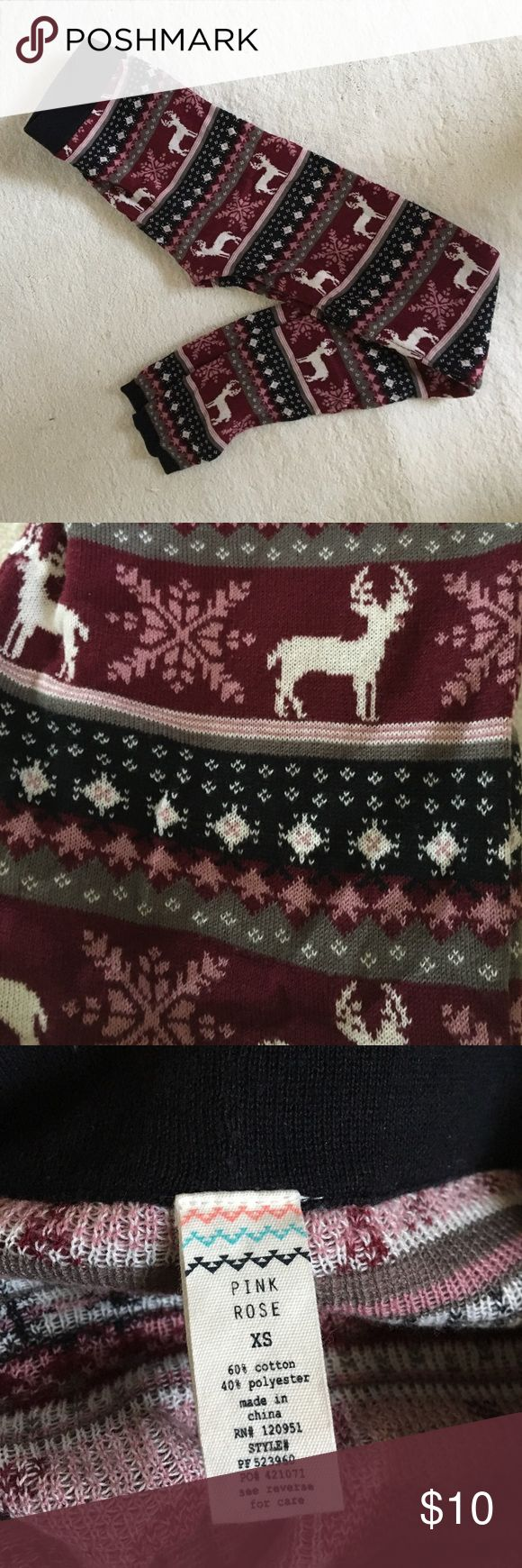 Christmas leggings Xsmall Christmas leggings. Pink Rose Pants Leggings