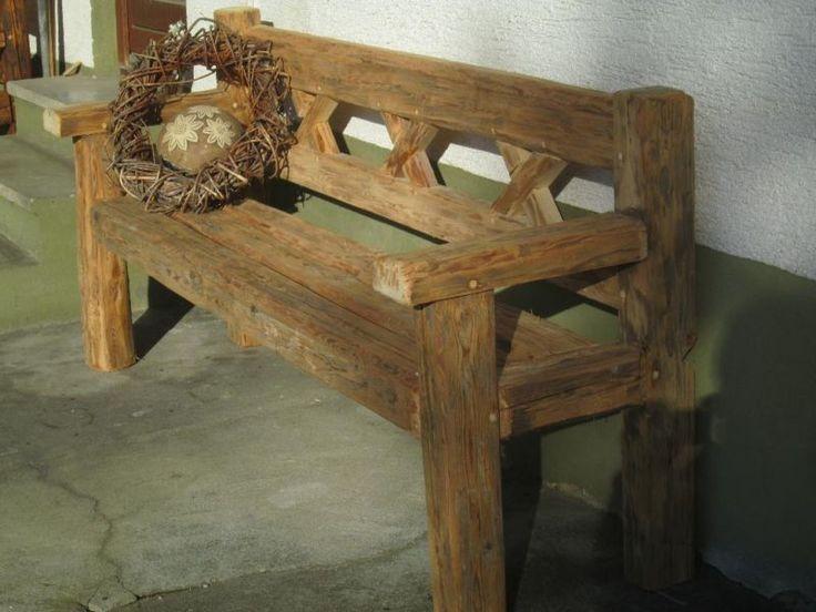 sch ne massive gartenbank aus historischen balken bank. Black Bedroom Furniture Sets. Home Design Ideas