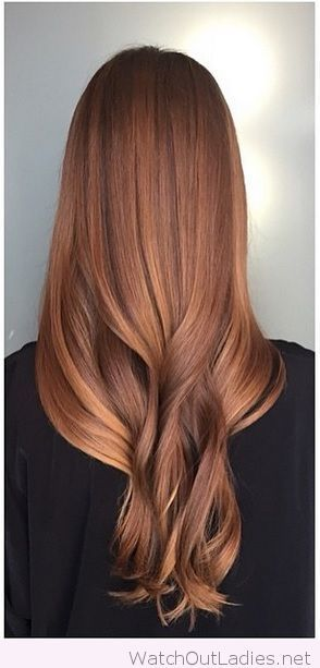 Sweet sunkissed auburn hair color idea