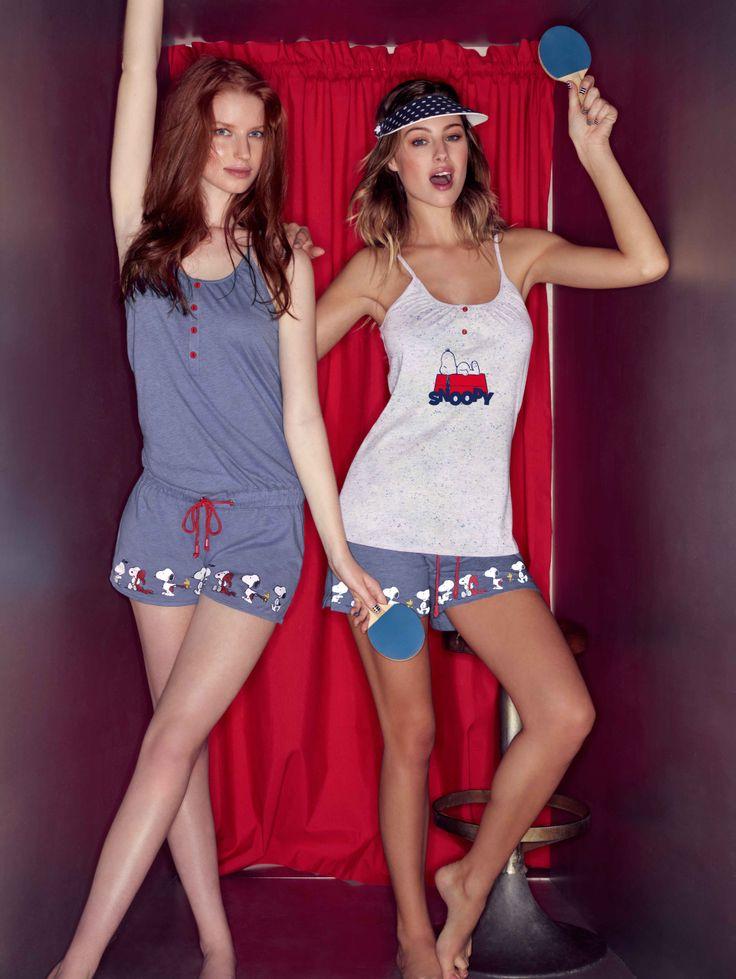#pijama de #verano de #algodón muy frescos y cómodos, ideales para dormir las noches de #calor #summer #fashion #verano2014 #moda #modaíntima #mujer #snoopy no te pierdas nuestros summer packs!