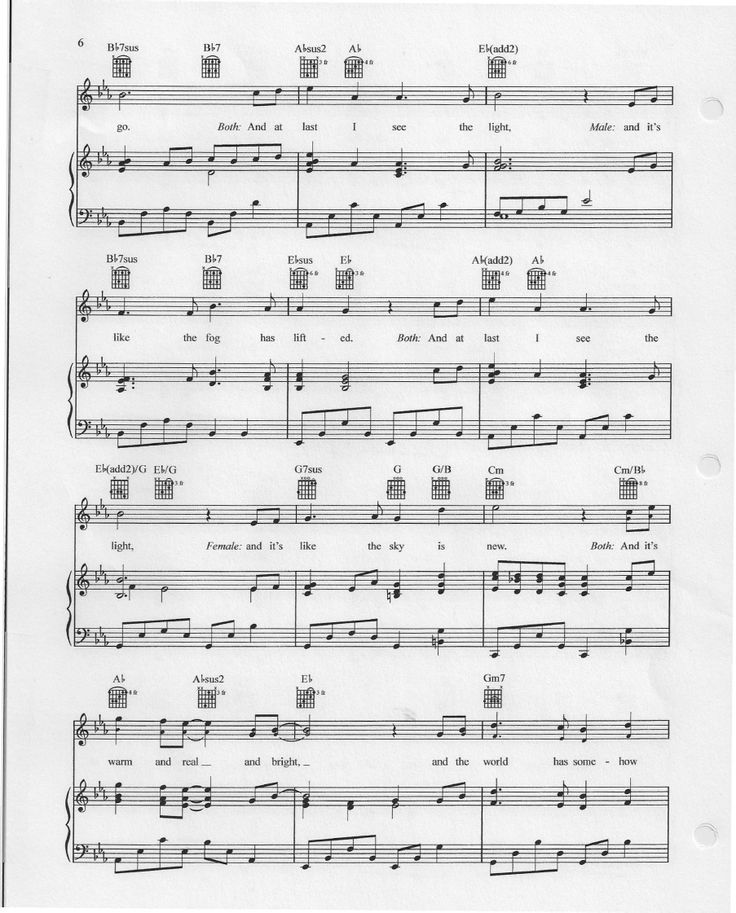 I See The Light (Tangled Piano Sheets)