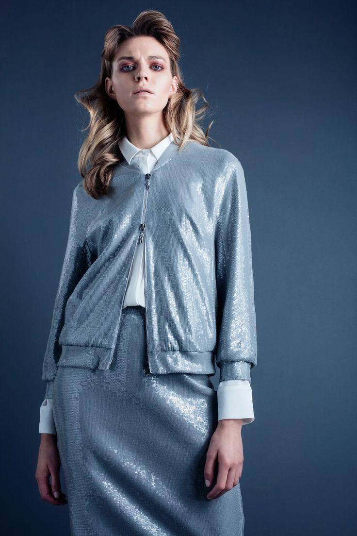Bomber jacket and skirt