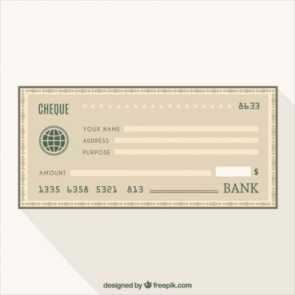 Blank Cheque Bank Free Vector Blank Check Template Free Vector Free