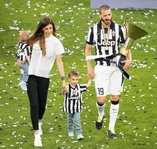 Juventus (Champions of serie-A Tim Cup) - Bonucci and his family