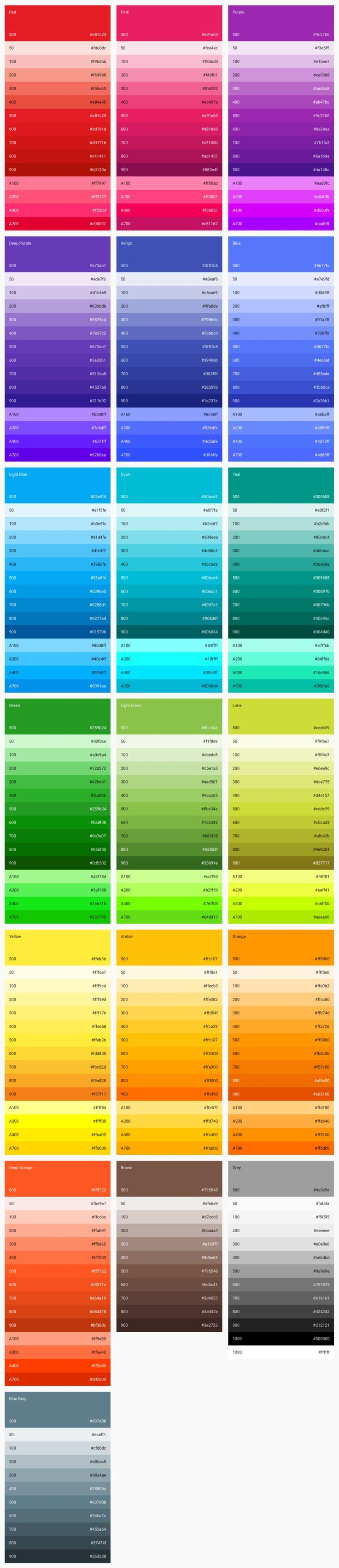 Material Design – Style – Color-UI | Design Graphics And Art