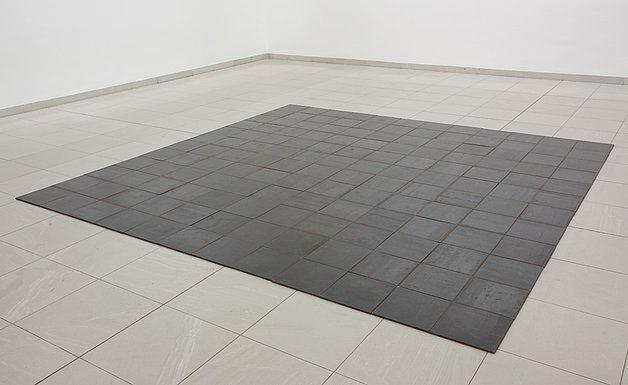 Imagini pentru 144 aluminum square carl andre | Flooring, Tile floor,  Aluminum
