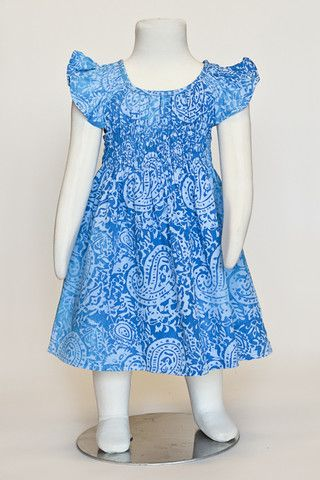 fashion, blue dress, batik dress, summer dress, girls dress