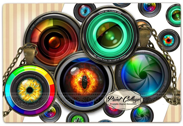 Camera Lens Cabochon images Digital Collage Sheet 1.5 inch, 16 mm 12 mm 1 inch digital download Bottle Cap images printable download c229 - pinned by pin4etsy.com