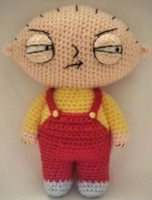 Stewie Griffin FAMILY GUY Crochet PDF Pattern by KnitSplat on Etsy