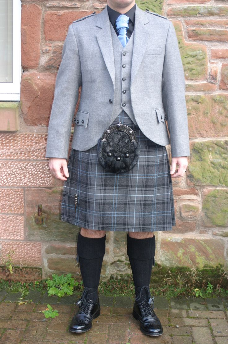 The new Highland Granite Blue outfit with light grey jacket & vest