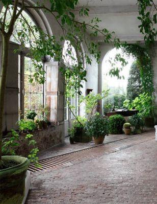 Axel Vervoordt Indoor #garden #conservatory #greenroom