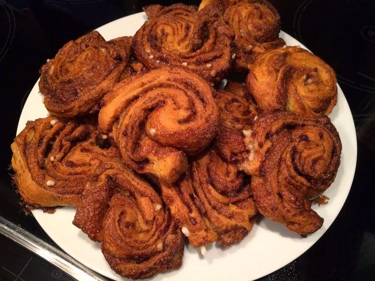 Kaneelbroodjes van croissantdeeg, makkelijk te maken en erg lekker