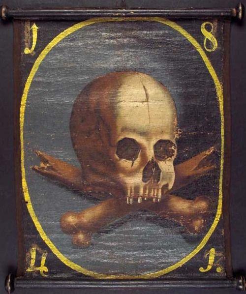 piratedistributing:  Pestfahne, Germany, 18Century Pestfahne, Deutschland, 18. Jahrhundert. Ca. 33 x 45cmFreundliche Leihgabe von Antiquariat Rolf Schwing, Heidelberg.