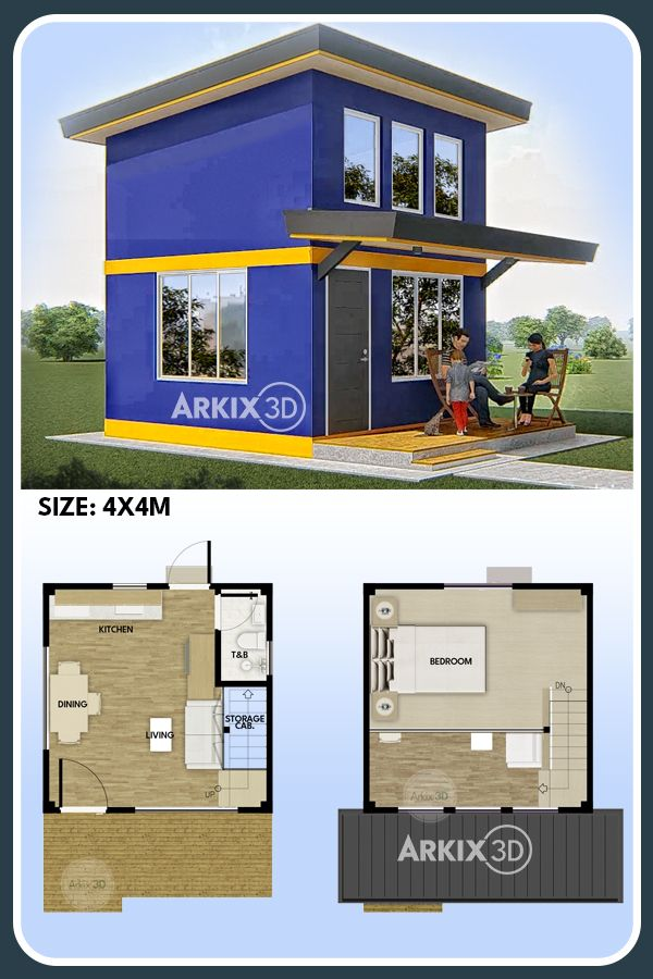 Pin On Ideas For The Small House Design Simple house plan with loft