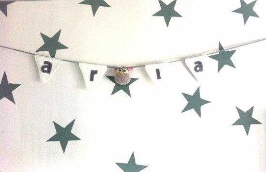 Banderín para habitación de bebé