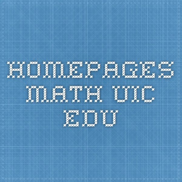 homepages.math.uic.edu