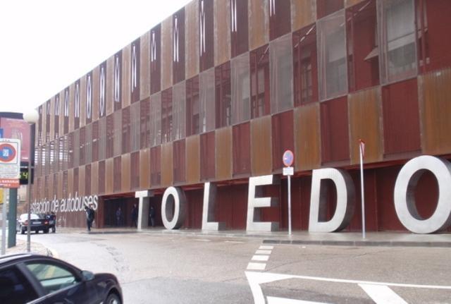Estación de autobuses de Toledo.  Talleres Sánchez Galán, construcción metálica exterior e interior de la estación.