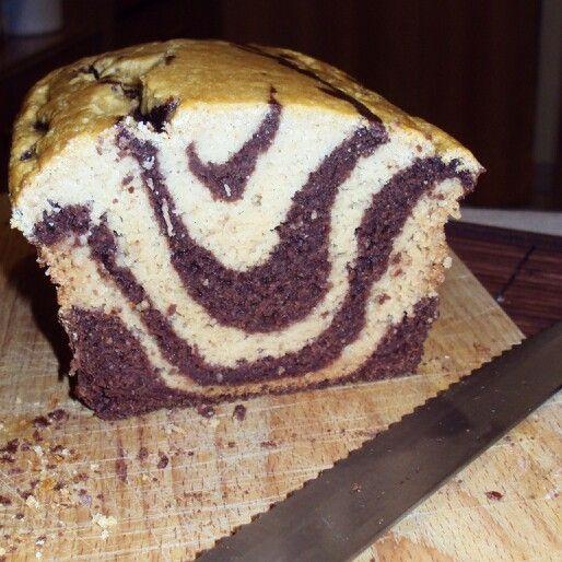 Plumcake pere e cacao senza glutine e senza lattosio