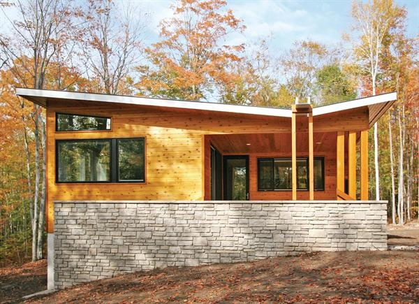 8 best images about butterfly roof on pinterest for Mid century modern prefab homes