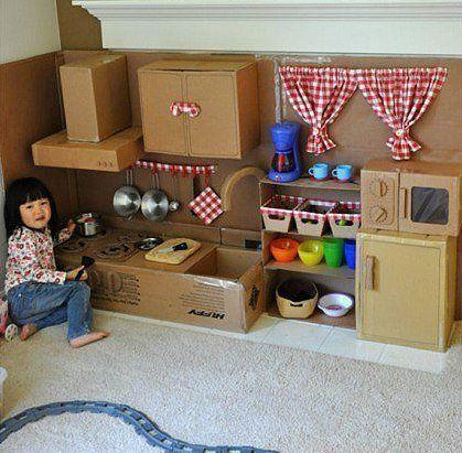 Картонная кухня для детей   Домохозяйка