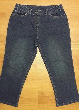 À vendre sur #vintedfrance ! http://www.vinted.fr/mode-femmes/pantacourts/26220099-jean-pantacourt-taille-46-ms-mode