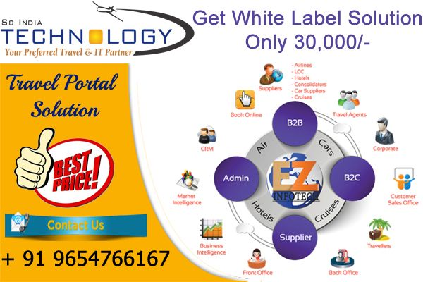 Get white label solution only 30,000/- call now or visit http://www.travelportalsolution.com