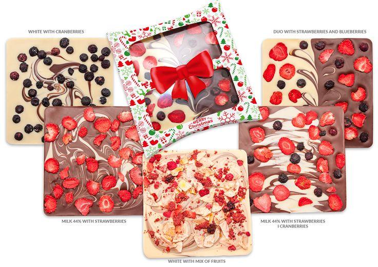 CHRISTMAS-084 CHOCOLATE WITH FRUITS
