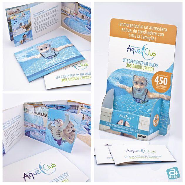 Realizzazione del catalogo ed espositore da banco per aquaclubcondino, Centro Aquatico della Valle del Chiese