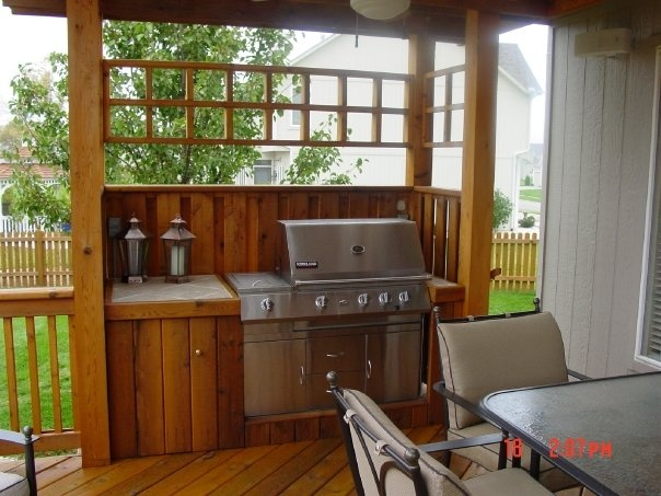 Bbq enclosure google search patio deck ideas for Deck kitchen ideas